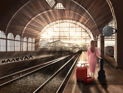 Last Train.   maleval_sam   Digital Drawing   PENUP