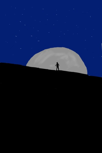 let's draw moon challenge  | shaker.omr.g | Digital Drawing | PENUP