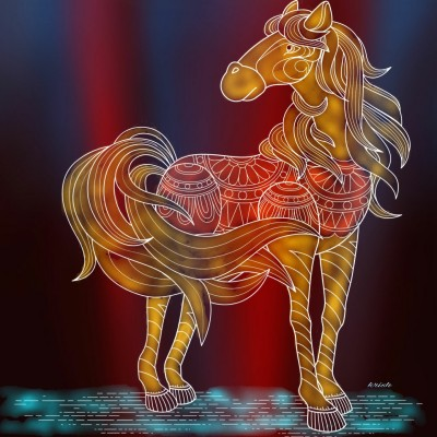 Royal Horse ♡ | krish | Digital Drawing | PENUP