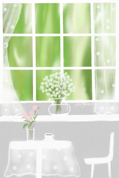 2.여기서 커피한잔 할래요? A cup of coffee with me? | youngsook | Digital Drawing | PENUP