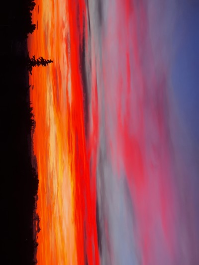 Our sky,I took this photo yesterday at sunset | kiara | Digital Drawing | PENUP