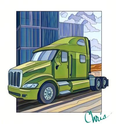 Tractor | Chris | Digital Drawing | PENUP