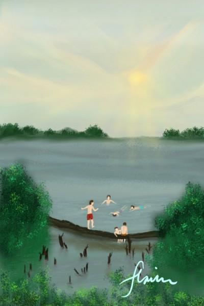 Let's Swim.. | flavin_and_juan | Digital Drawing | PENUP