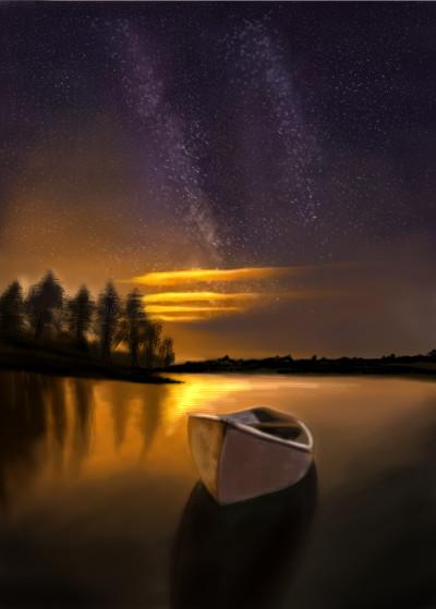river at night  | mid0 | Digital Drawing | PENUP