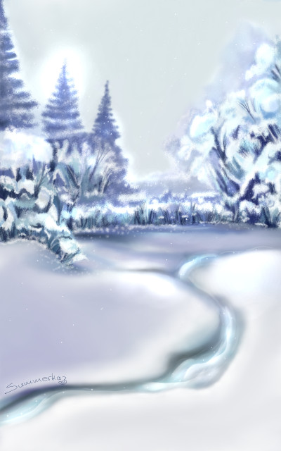 Frozen River | SummerKaz | Digital Drawing | PENUP