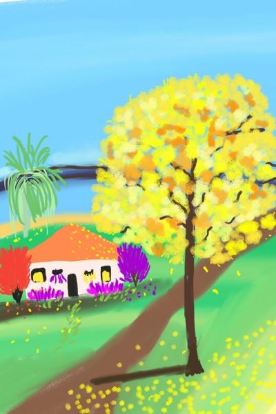 Y ellos oak tree .   Ivonne   Digital Drawing   PENUP