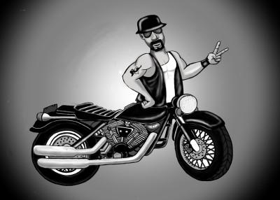 Motorcycle Man | Terry627 | Digital Drawing | PENUP