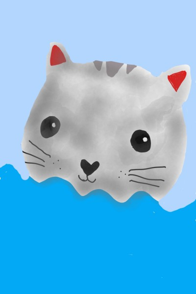 cat water  | Spotted_moon | Digital Drawing | PENUP