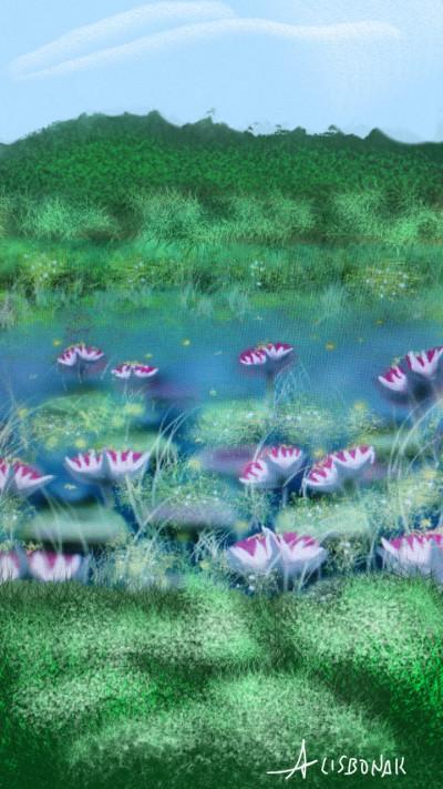 Landscape Digital Drawing | 1LISBONAK | PENUP
