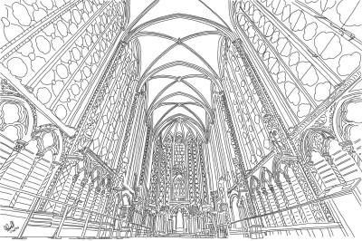 Sainte-Chapelle, Paris | StevenCarroll | Digital Drawing | PENUP