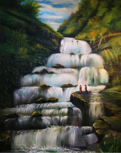 دریا،آبشار   zahra   Digital Drawing   PENUP
