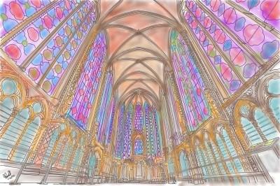 Sainte-Chapelle | StevenCarroll | Digital Drawing | PENUP