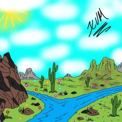 River that walks between valleys. | XavierViruet | Digital Drawing | PENUP