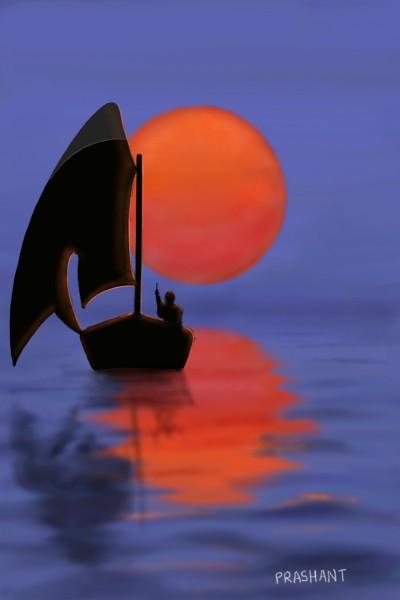 Penup Boat in River!!! | Prashant | Digital Drawing | PENUP
