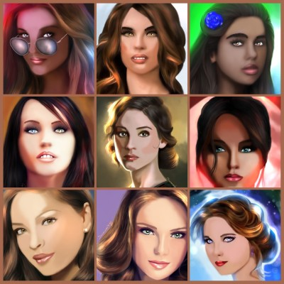 Brown hair potraits | SummerKaz | Digital Drawing | PENUP
