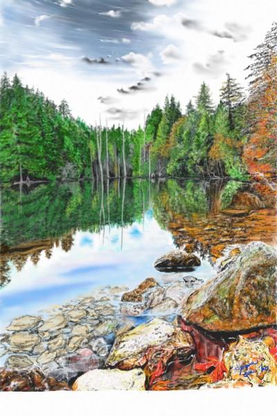 Landscape Digital Drawing | mino9683 | PENUP