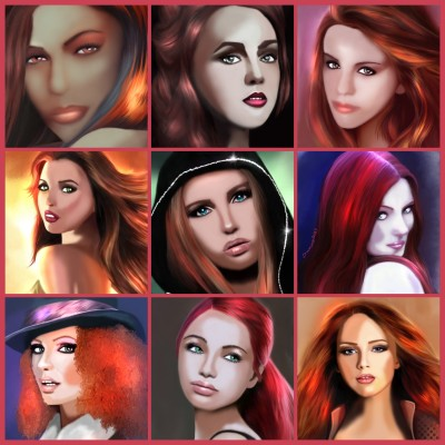 Red hair potraits | SummerKaz | Digital Drawing | PENUP