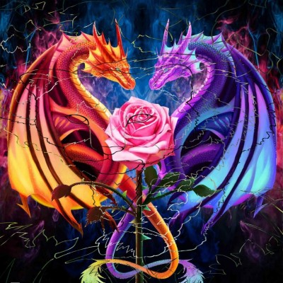 Dragon  Rose  | Gaycouple | Digital Drawing | PENUP