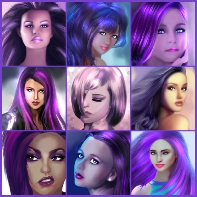 My Purple Potraits | SummerKaz | Digital Drawing | PENUP