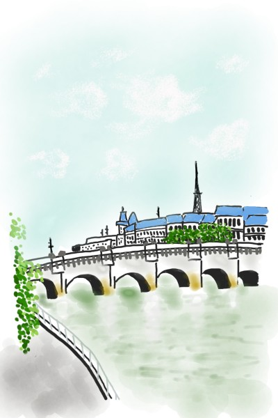 #bridge_paris | cutemo | Digital Drawing | PENUP