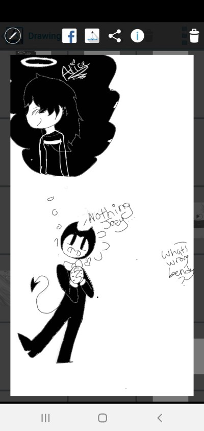 What's Wrong Bendy?  | ImSorryTwT | Digital Drawing | PENUP