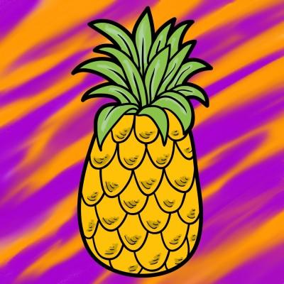 Pineapple  | Tessie | Digital Drawing | PENUP