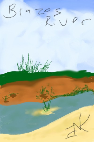 Brazos river behind my old house | nancyerskine866 | Digital Drawing | PENUP