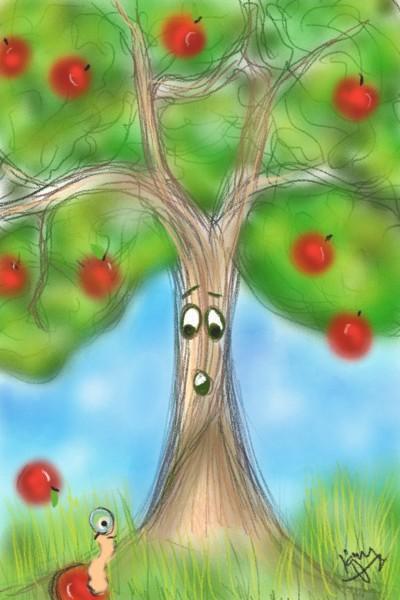 Hey, that's my Apple! | kitt | Digital Drawing | PENUP