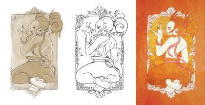 Golden step by step  | AL1ISBETTER | Digital Drawing | PENUP