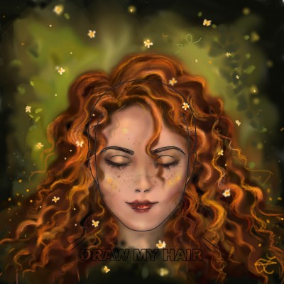 draw my hair: curls♡ | aristina.z | Digital Drawing | PENUP