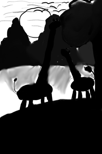Giraffes  | BigBeanBen | Digital Drawing | PENUP