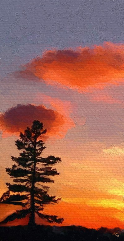 sunset in oil  | Hanne | Digital Drawing | PENUP