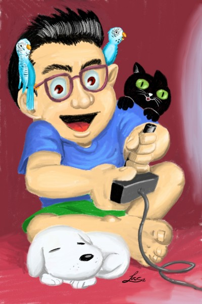 Playing with my pets | Lucs | Digital Drawing | PENUP