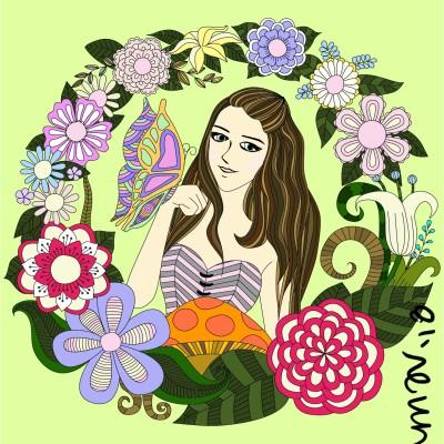 Coloring Digital Drawing | mich | PENUP