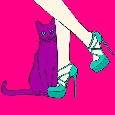 cat and shoe   MareBarrow   Digital Drawing   PENUP