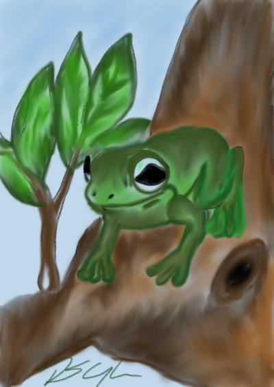 tree frog | Bluzie | Digital Drawing | PENUP