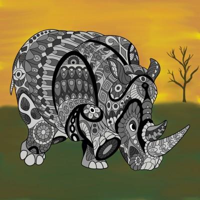 Rhino | iamth3joker | Digital Drawing | PENUP