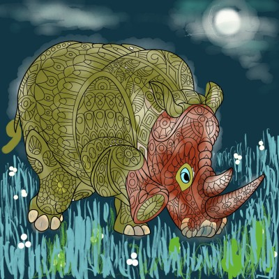 Rhinoceros ♡♡  | regina | Digital Drawing | PENUP