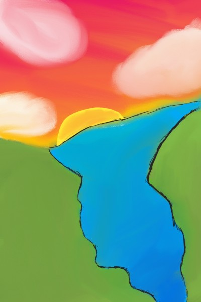 A very nice river.  | Orenji | Digital Drawing | PENUP