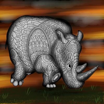Rhino | JammyC | Digital Drawing | PENUP