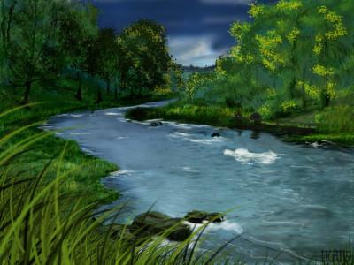 artistist river drawing   awantika   Digital Drawing   PENUP