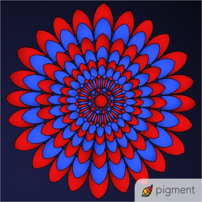 red and blue and black    shawnsmith   Digital Drawing   PENUP