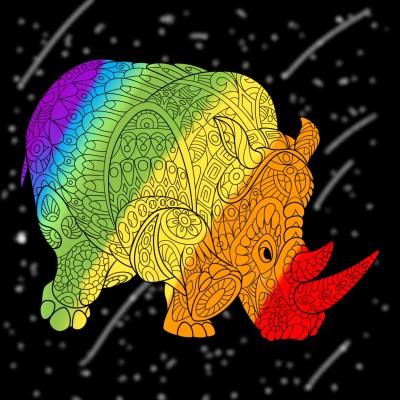 Coloring Digital Drawing | Dragon | PENUP