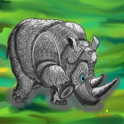 rhino warning☆ | ockja | Digital Drawing | PENUP