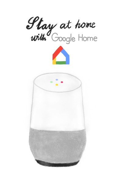 Stay at home with Google Home... | Shin | Digital Drawing | PENUP