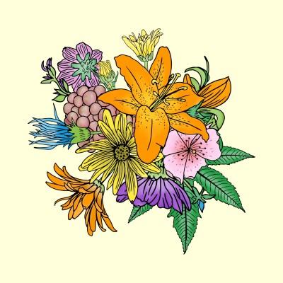 Mixed Flowers | Trish | Digital Drawing | PENUP