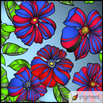 red and blue    shawnsmith   Digital Drawing   PENUP
