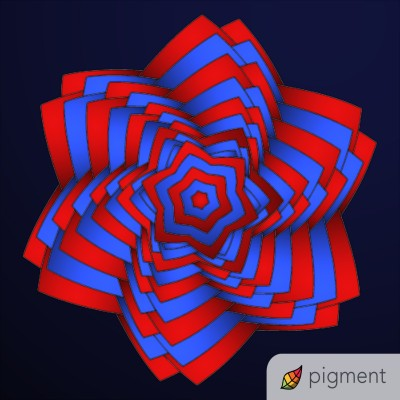 red and blue and black  | shawnsmith | Digital Drawing | PENUP
