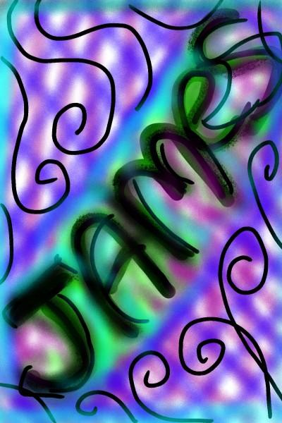 text doodle | .-.-.A.L.B.-.-. | Digital Drawing | PENUP