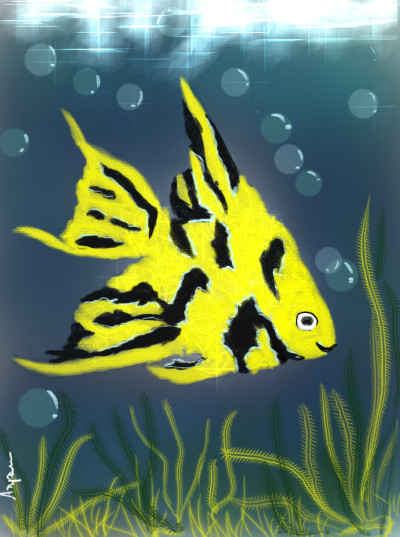 fish in a pond | arpu | Digital Drawing | PENUP